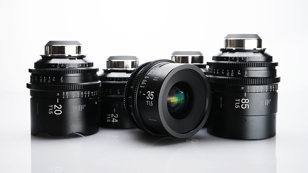 Sigma High Speed FF Primes - 5 Lens Set