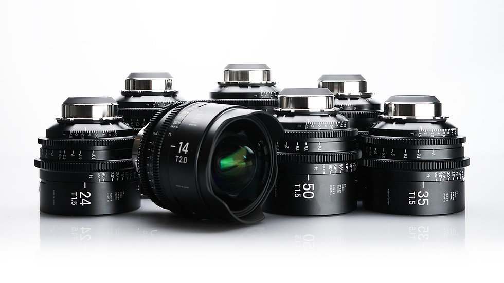 Sigma High Speed FF Primes - 7 Lens Set