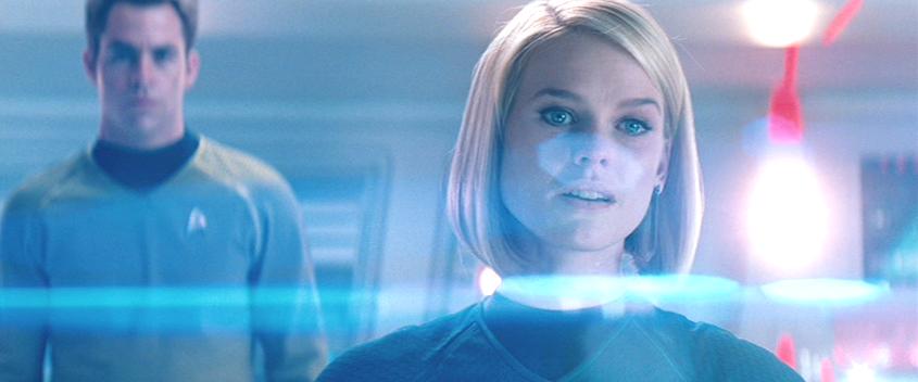 Star Trek Screenshot with blue tones