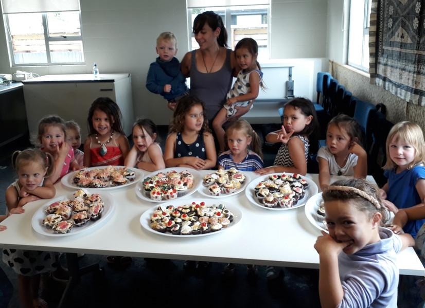 Baking with preschoolers