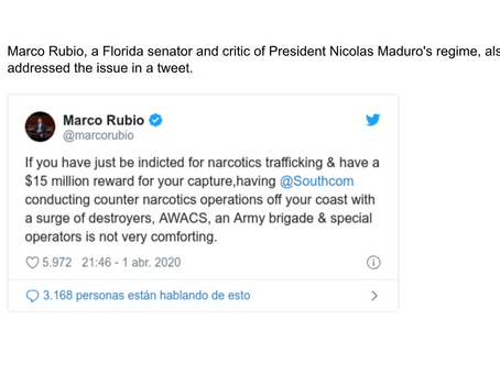 Deployment of US Troops Would Be Near the Venezuelan Coasts