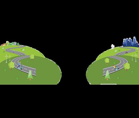 Illustration ville éco-mobilité
