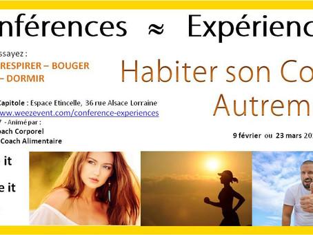 """Conférence-Expérience """"Habiter son corps autrement"""" 2019"""