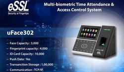 uface 302 biometric access control essl