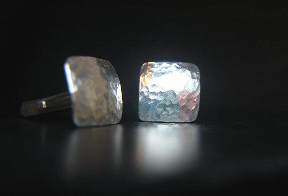 Sterling Silver Curved Cufflinks
