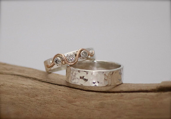 Bespoke Silver Wedding Ring Service (deposit)