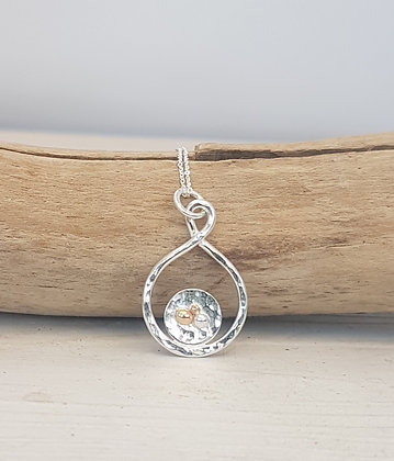 Recycled Sterling Silver Infinity Pendant