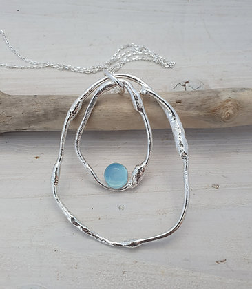 Aphrodite Pendant (large) With Blue Agate