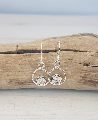 Recycled Sterling Silver Infinity Earrings