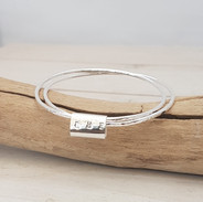 Sterling silver double bangle, made by Michelle