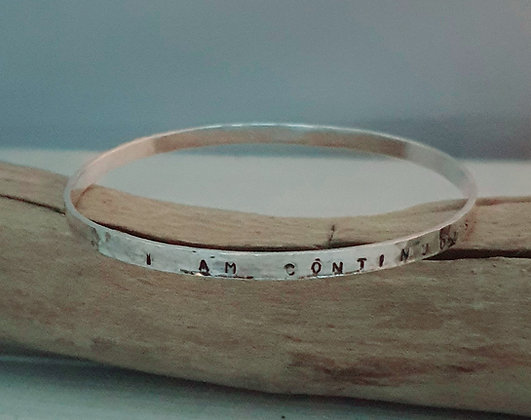 'I Am Continuously Impressed With You' Sterling Silver Bangle