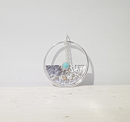 Recycled Sterling Silver Beach Pendant