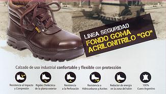 Calzado de seguridad fondo goma AcriloNitrilo