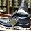 vista talon y lateral calzado de seguridad economico con puntera de acero