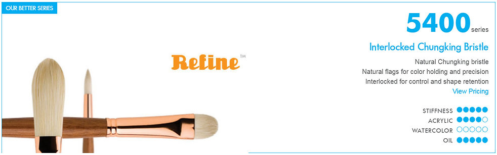 Princeton Refine Oil Painting Brushes