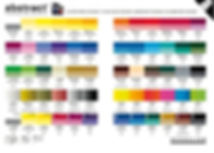 Abstract Acrylic Color Chart