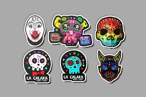 Colección de stickers de La Calaka
