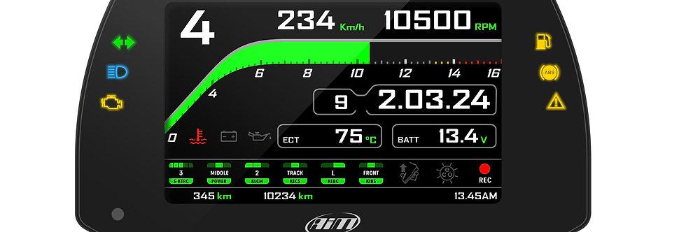 AiM MXK10 Kawasaki ZX-10R 16-20 Plug & Play Dash Logger