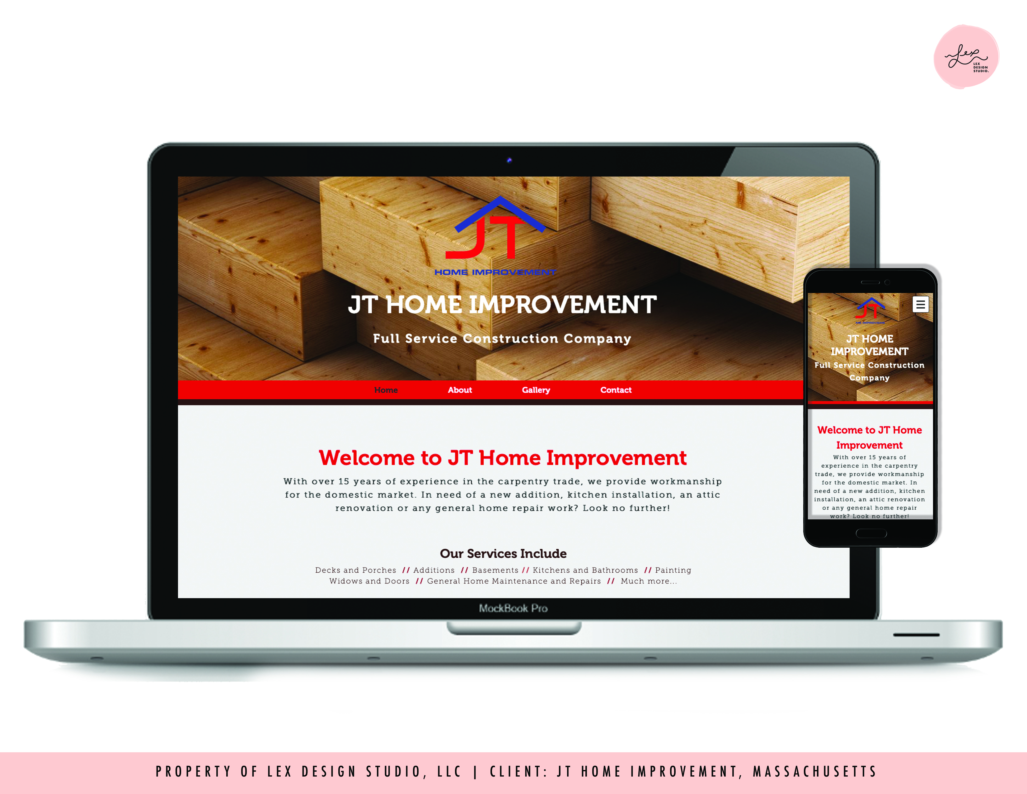Website Design - JT Home Improvement MA