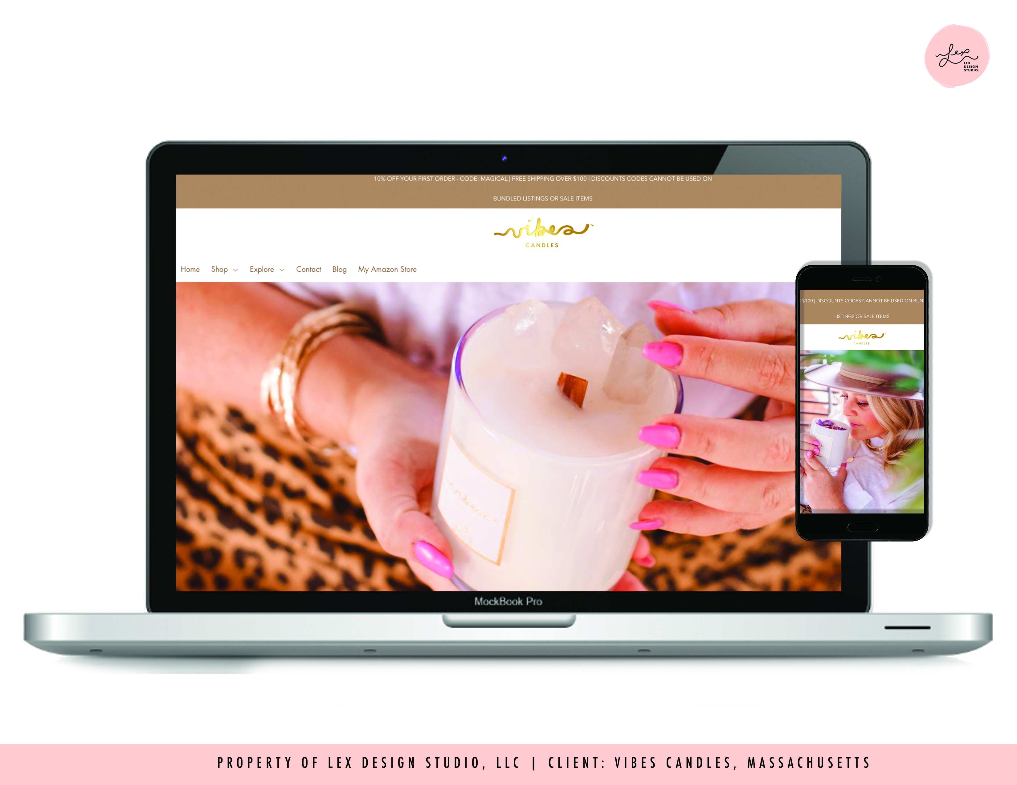 Website Design - Vibes Candles™
