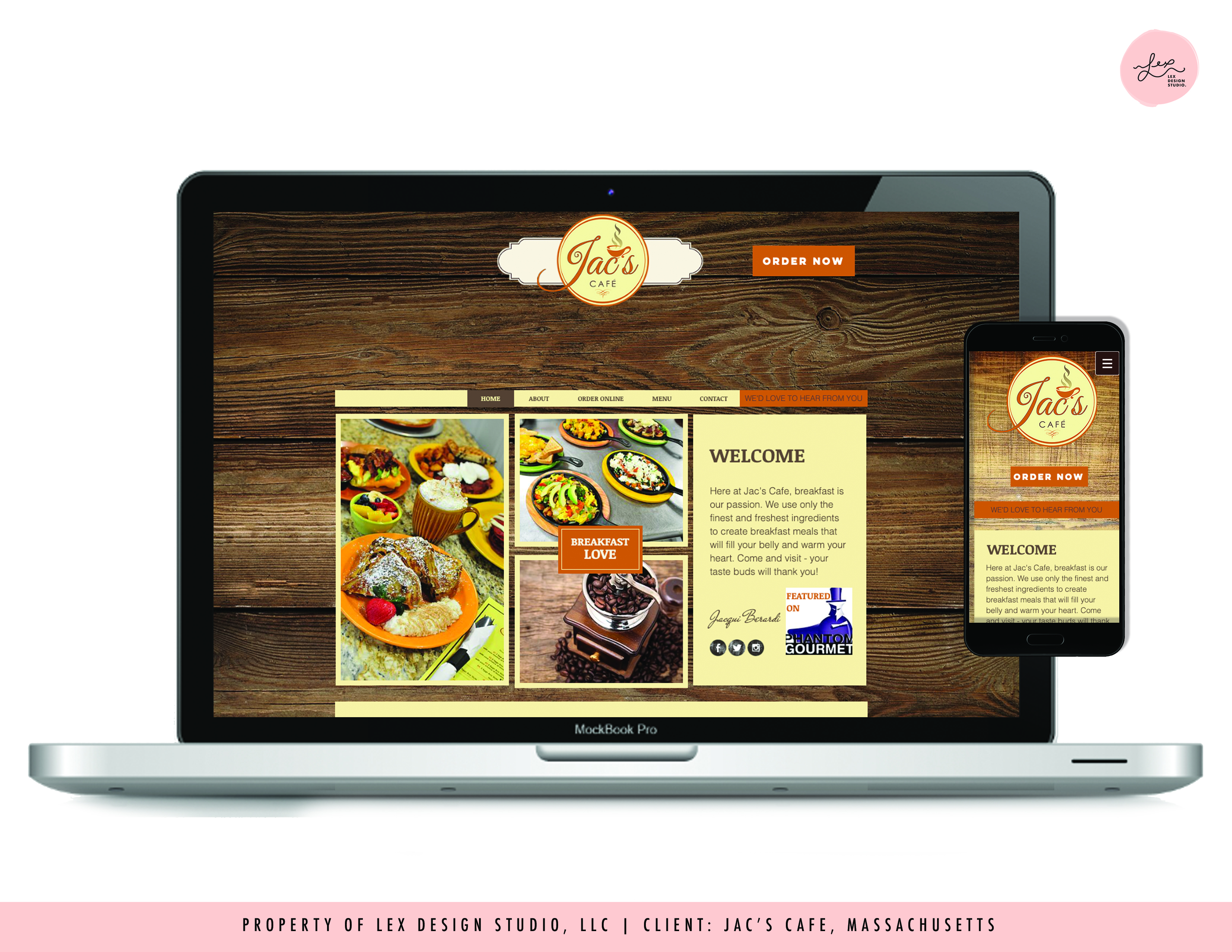 Website Design - Jac's Cafe