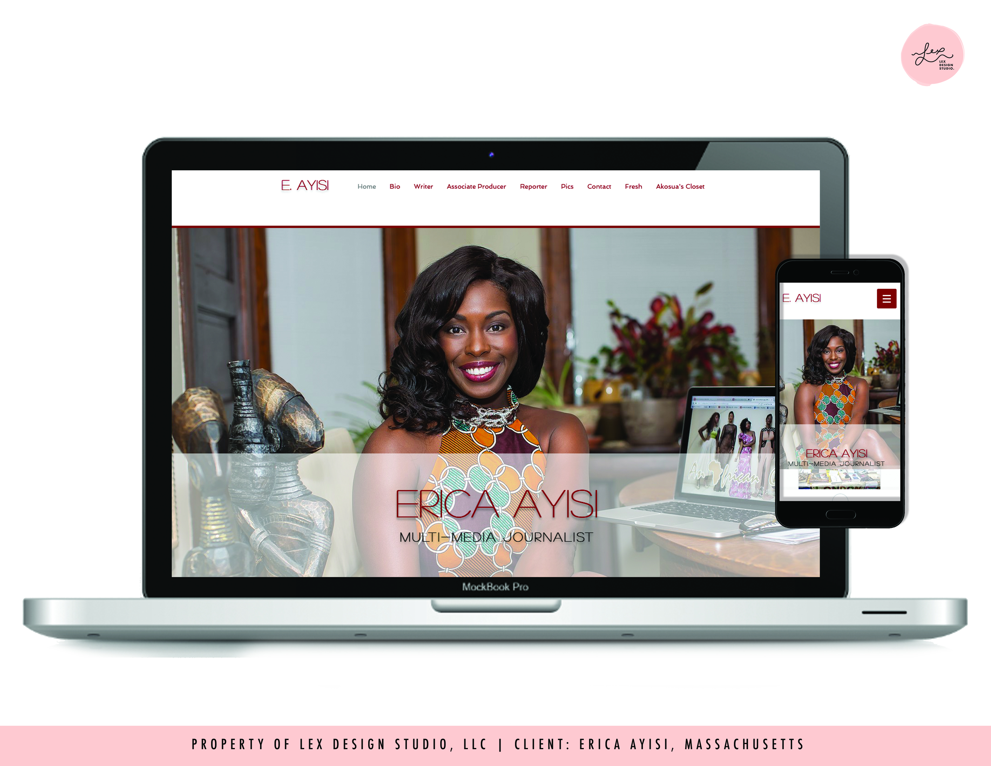 Website Design - Erica Ayisi