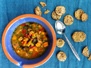 Sweet and Spicy Andouille and Black Bean Soup