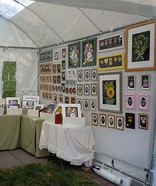Lisa Davis' booth at an art festival