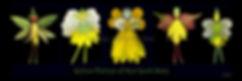 Yellow Flower Fairies, nature fairies, NYS fairies, Lisa R Davis
