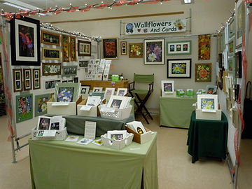 Wallflowers And Cards booth at an art Festival