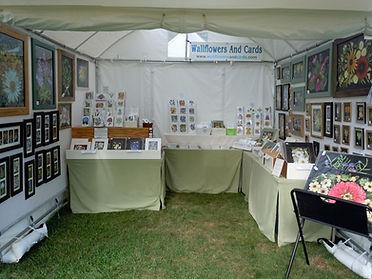 Lisa Davis outdoor booth at a fine art festival