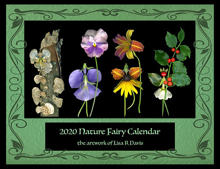 Nature Fairy Calnedar, calendar, Nature Fairies, Flower Fairies, Lisa R Davis