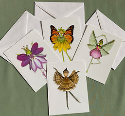 Flower Fairy Notecards by Lisa R Davis of Wallflowers And Cards