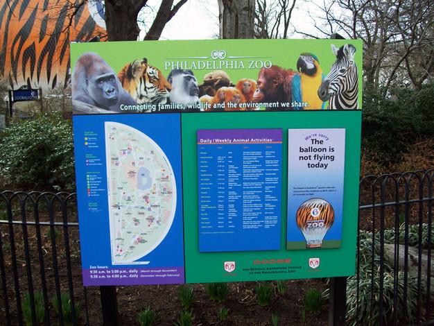 Philadelphia Zoo Signage