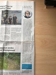 Artikel in der Wochen Zeitung für das Emmental und Entlebuch