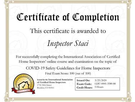 Covid-19 Safety Compliance for Home Inspectors