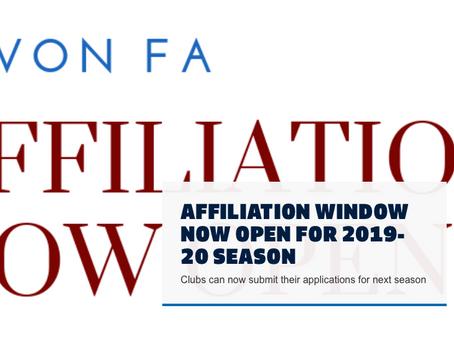 Devon FA Affiliations Open