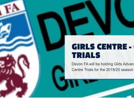 Devon Fa Girls Centre Open Trials