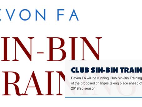 Sin Bins Training for Season 2019/20