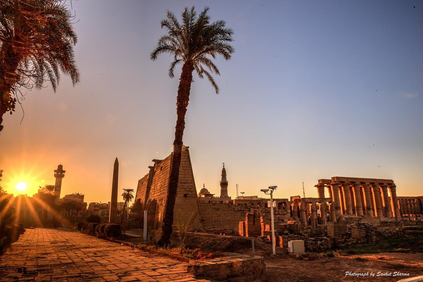 Sunrise at Luxor Temple, Egypt