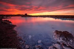 Sunset at Blue Lagoon, Iceland