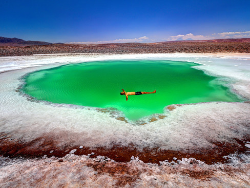Natural pools in middle of nowhere