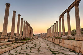 Sunset at Jerash, Jordan