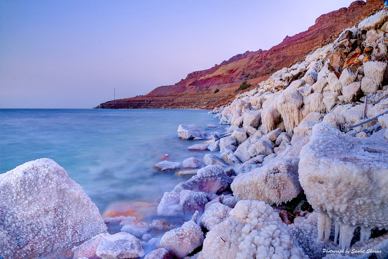 Sunset at Dead Sea, Jordan