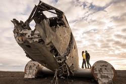 Plane wreck on Black Beach, Iceland