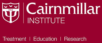 Cairnmillar Institute logo with tag line Treatment, Education, Research