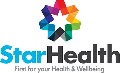StarHealth Logo with tagline First for your health and wellbeing