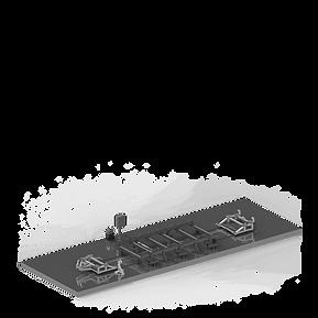 dispositivo hidráulico para incaixe e solda de chassi