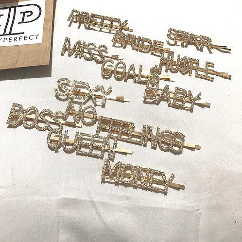 Bling Barrette   Gold