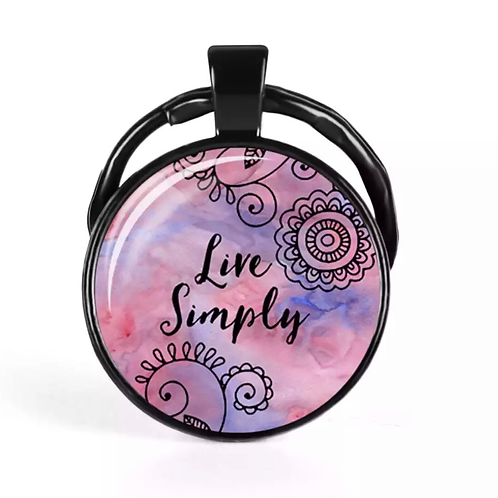 Live Simply Key Ring